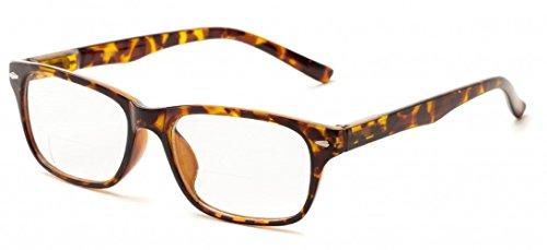 Williamsburg Square - The Williamsburg BIFOCAL Retro Square Reading Glasses + 2.00 Yellow Tortoise
