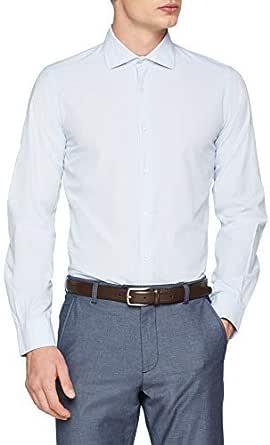 Scalpers Eton K Shirt Check Camisa Casual, Azul (Skyblue ...