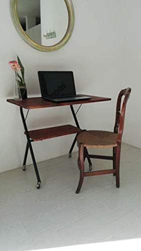 Mesa/escritorio/madera/estilo industrial/Alto 74,5cm ancho 85cm ...