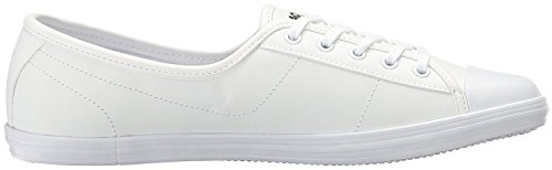 Lacoste Ziane White Leather Womens Trainers Shoes