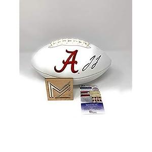 Jerry Jeudy Alabama Crimson Tide Signed Autograph Embroidered Logo Football JSA Rookie Certified