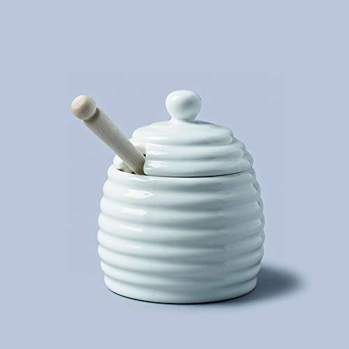 Porcelain Honey Pot White by CKS