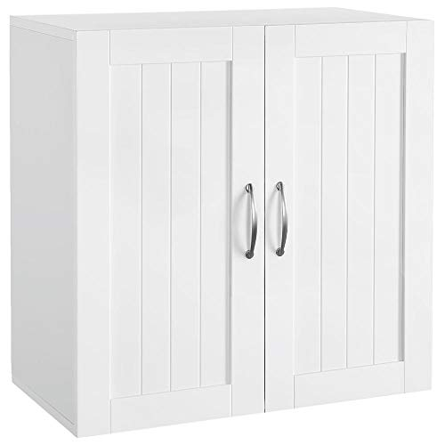 Topeakmart Home Kitchen/Bathroom/Laundry 2 Door 1 Wall Mount Cabinet White 23in x 23in
