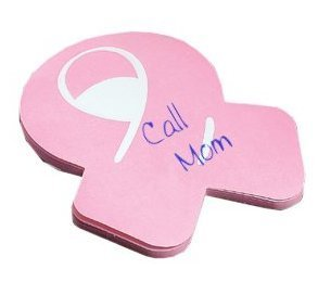 - Pink Ribbon Sticky Note Pads - 3 Pad Set