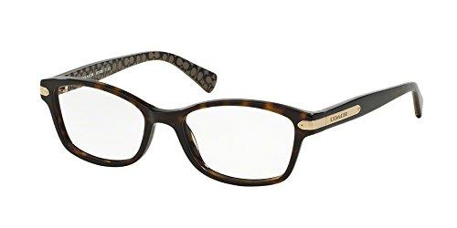 Coach Women's HC6065 Eyeglasses Dk Tort/Dk Tort Military Sig C 51mm by Coach