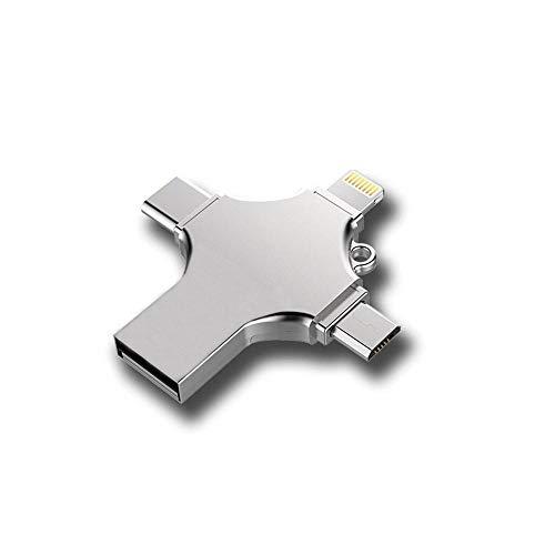 KOBWA Flash Drive 4 Port-in-1, 32GB OTG USB Memory Stick, Expansión de Almacenamiento Externo Thumb Drive Compatible con...