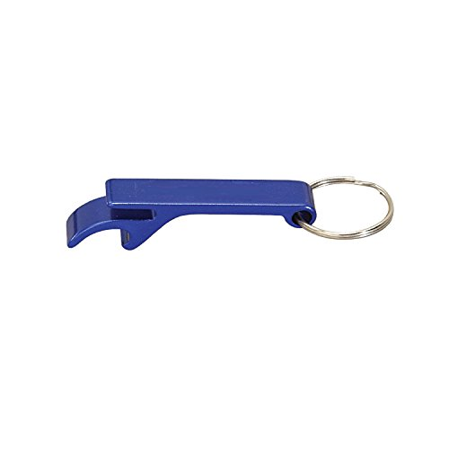 Klaw Ring - Thirsty Rhino Klaw, Compact Anodized Aluminum Bottle Opener Keychain Key Ring, Blue (Set of 4)