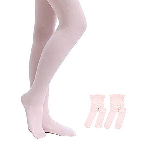 STELLE Girls' Ultra Soft Pro Dance Tight/Ballet Footed Tight (Toddler/Little Kid/Big Kid) (2-BP, S)