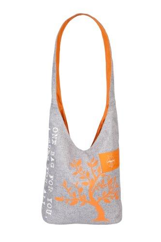 Lässig Green Label Charity Shopper Ecoya–Bolso bandolera Anthracite/Dubarry Abricot melange-orange
