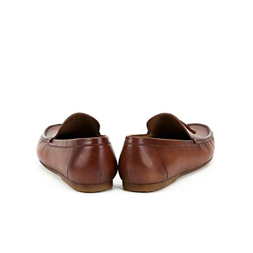 mocasín Slip Cuero XZP Genuino conducción de Zapatos Size Cómodo para Tassel EU de Shoes 42 On Color Summer Soft Hombres Mocasines Leather Brown Brown Spring Hombre aXaqwP