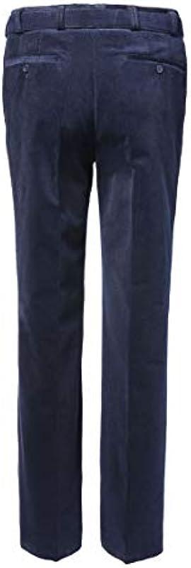Spodnie M fexible Stretch Cord murk 9005 Szary, niebieski lub beżowy, kolor: ciemny niebieski, dla mężczyzn rozmiar: 27: Odzież