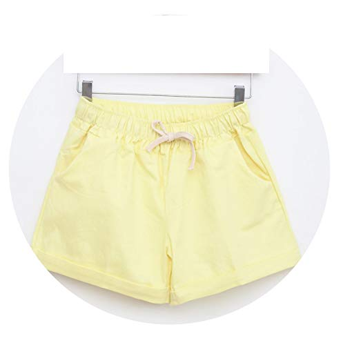 store ramses Summer Style Shorts Women Candy Color Elastic with Belt Short Women A224,Yellow,One Size