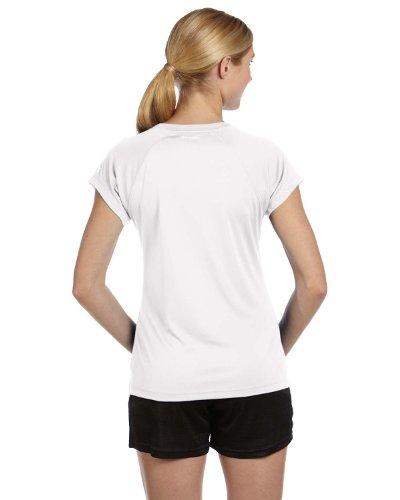 nbsp;– Sport Femme nbsp;– nbsp;chemise nbsp;manches nbsp;– nbsp;pour Courtes Blanc Champion HqwfRaWS4
