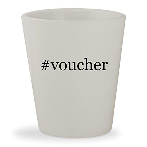 #voucher - White Hashtag Ceramic 1.5oz Shot Glass