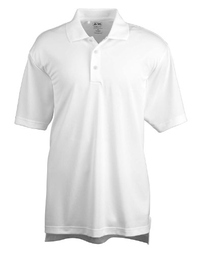 adidas Golf Mens Climalite Basic Short-Sleeve Polo (A130) -White -L