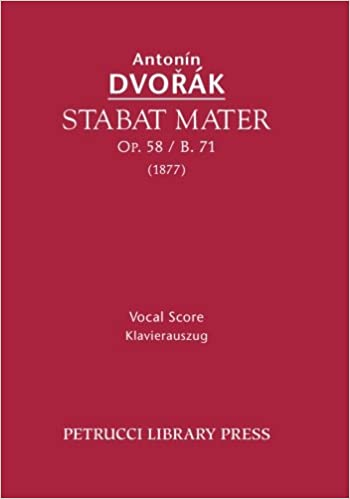 \\NEW\\ Stabat Mater, Op. 58 / B. 71: Vocal Score (Latin Edition). cubito precios solucion internet products Camiseta previos