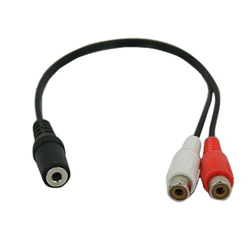 HDE Single 3.5mm Female to Dual RCA Female Audio Splitter Extender