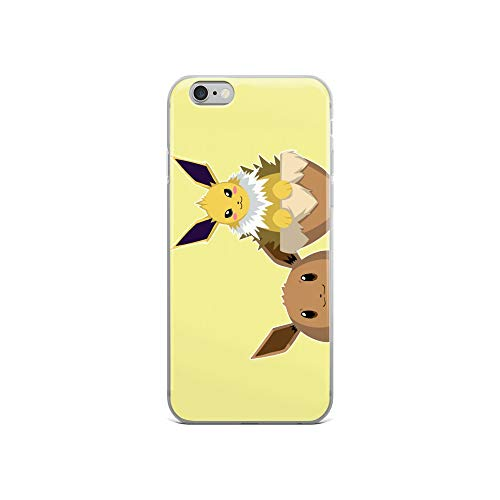 iPhone 6/6s Case Anti-Scratch Japanese Comic Transparent Cases Cover Jolteon Anime & Manga Graphic Novels Crystal Clear