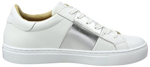Donna Banded Street Skechers Sneaker Silver White Bianco Side nvIBF