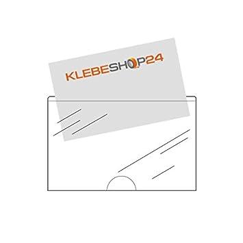 Carte De Visite Poches Autocollant Avec Pouce Ausstanzung Bas 95 X