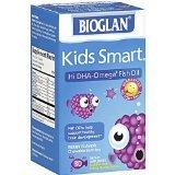 Bioglan Kids Smart Hi DHA Omega-3 Fish Oil, Chewable Burstlets, Berry 30 Ea (Pack 2)