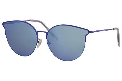 Balenciaga BB0021SK Sunglasses 003 Blue/Blue Mirror(Double) Lens 61 mm