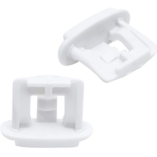 Ultra Durable WD12X10304 Dishwasher Upper Rack Slide End Cap Replacement Part by Blue Stars - Exact Fit For GE & Kenmore Dishwashers - Replaces AP4484666 WD12X344 - PACK OF 2