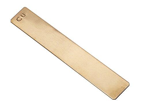 "Frey Scientific Copper Electrode Strip, 5"" Length x 3/4"" Width x 3/64"" Thick"