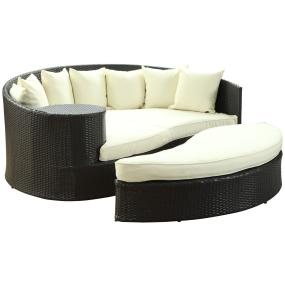 Set Includes:One   Taiji Outdoor Wicker Patio Daybed,One   Taiji Outdoor  Wicker Patio Ottoman,Seven   Taiji Outdoor Wicker Patio Throw Pillows