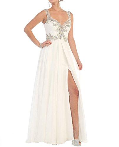 long white beaded dress - 7