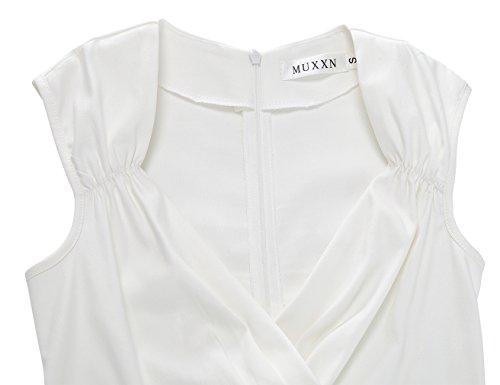 MUXXN Vestito '50 da Ruota Scollo Donna Donna Cream Vestiti anni Sera a Vestiti V Elegante a rtrS7