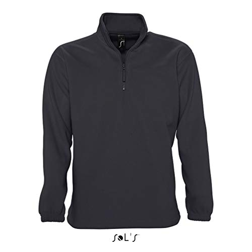 Shirt Sol's Polaire Montant bouloche Sweat À Col Tissu Ness Zip Anthracite Homme Anti Avec Finition fEqrfxT