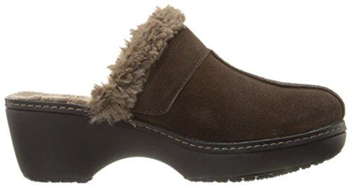 Crocs - Zapato de cuero del zapatero de la Mujer Clog - Espresso/Black