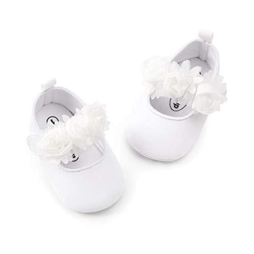 ENERCAKE Baby Girl Shoes Soft Sole Floral Newborn Infant Mary Jane Flats Baptism Dresses Shoes
