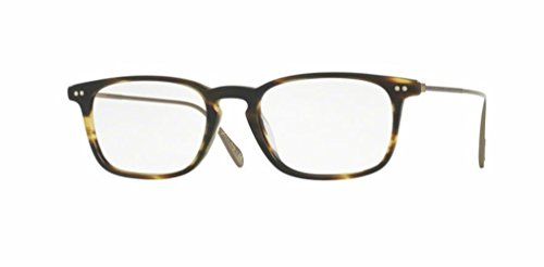 Oliver Peoples - Brennon - 5337 50 - Eyeglasses (SEMI MATTE COCOBOLO, Clear) (Buy Prescription Glasses Online)