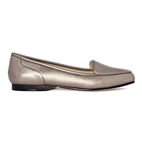 Bandolino Women's Liberty Pewter Multi Synthetic Loafer 7 M