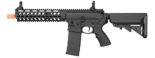 Lancer Tactical Rapid Deployment M4 Carbine Electric Airsoft Rifle Gun - Black