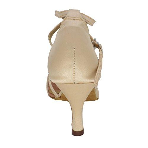 Misu Womens Peep Toe Sandalen Latin Salsa Tango De Praktijk Ballroom Dansschoenen Met 2,75 Hak
