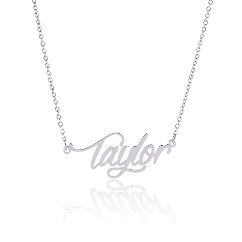 Lord & Taylor Pendant Necklace (AOLO Stainless Steel Delicate Name Pendant Necklace Taylor)