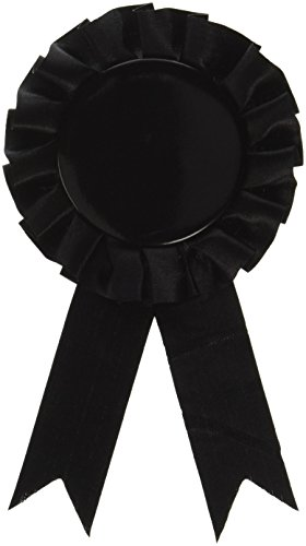Award Ribbon (black) Party Accessory  (1 count) (Award Ribbon)