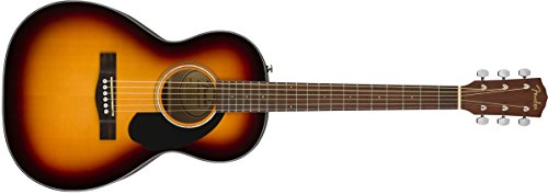 Acoustic Folk Guitar Body (Fender CP-60S Acoustic Guitar - Parlor Body Style - Sunburst Finish)