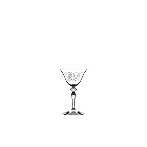 Astoria Clear Crystal (Italesse 8033210463435Wormwood Astoria, Glass, Crystal Clear, Transparent with Satin decorobianco)
