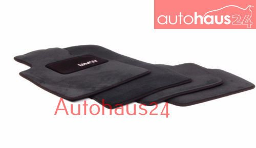 """BMW Genuine Black Floor Mats for E46 - 3 SERIES ALL MODELS COUPE & SEDAN (1998 - 2006), set of Four"" set of Four"""