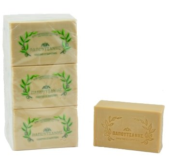 (Papoutsanis Pure Greek Olive Oil Soap Of Bars, 8.8 oz, Pack Of 4 (250g))