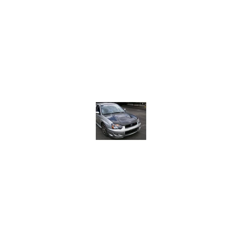 Kaminari Carbon Fiber Racing Style Hood For 04   05 Subaru WRX