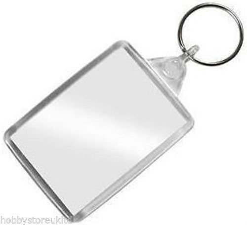 Clear Photo Holder Keyring Keychain Photo Holder Photo Frame Key Ring Pocket New