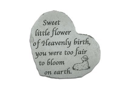Kay Berry Ireland Heart Small Sweet Little Flower- Great Thoughts Garden Accents Graveside Memorial Plaques Grave Marker Ornament
