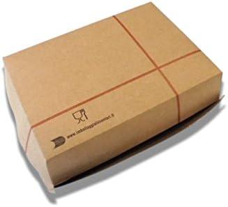 100 cajas de sándwiches grandes de 15 x 10 cm rectangulares para hamburguesas y sándwich de papel Big Boxburger de cartón kraft alimentario para llevar Take Away: Amazon.es: Hogar