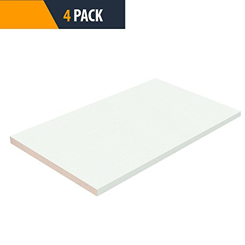 Closet Shelves Melamine - White Color - 12'' D x 27'' W - Choose Your Size - 4 Pack by TFKitchen