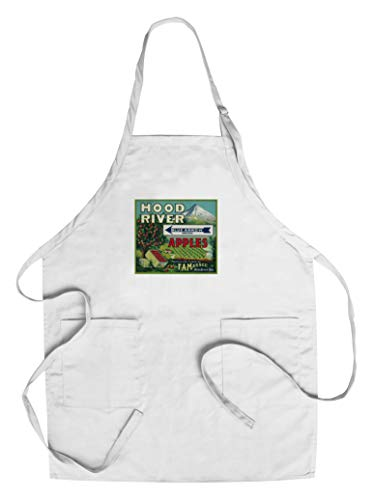 Blue Arrow Apple Crate Label (Cotton/Polyester Chef's Apron) Blue Apple Crate Label